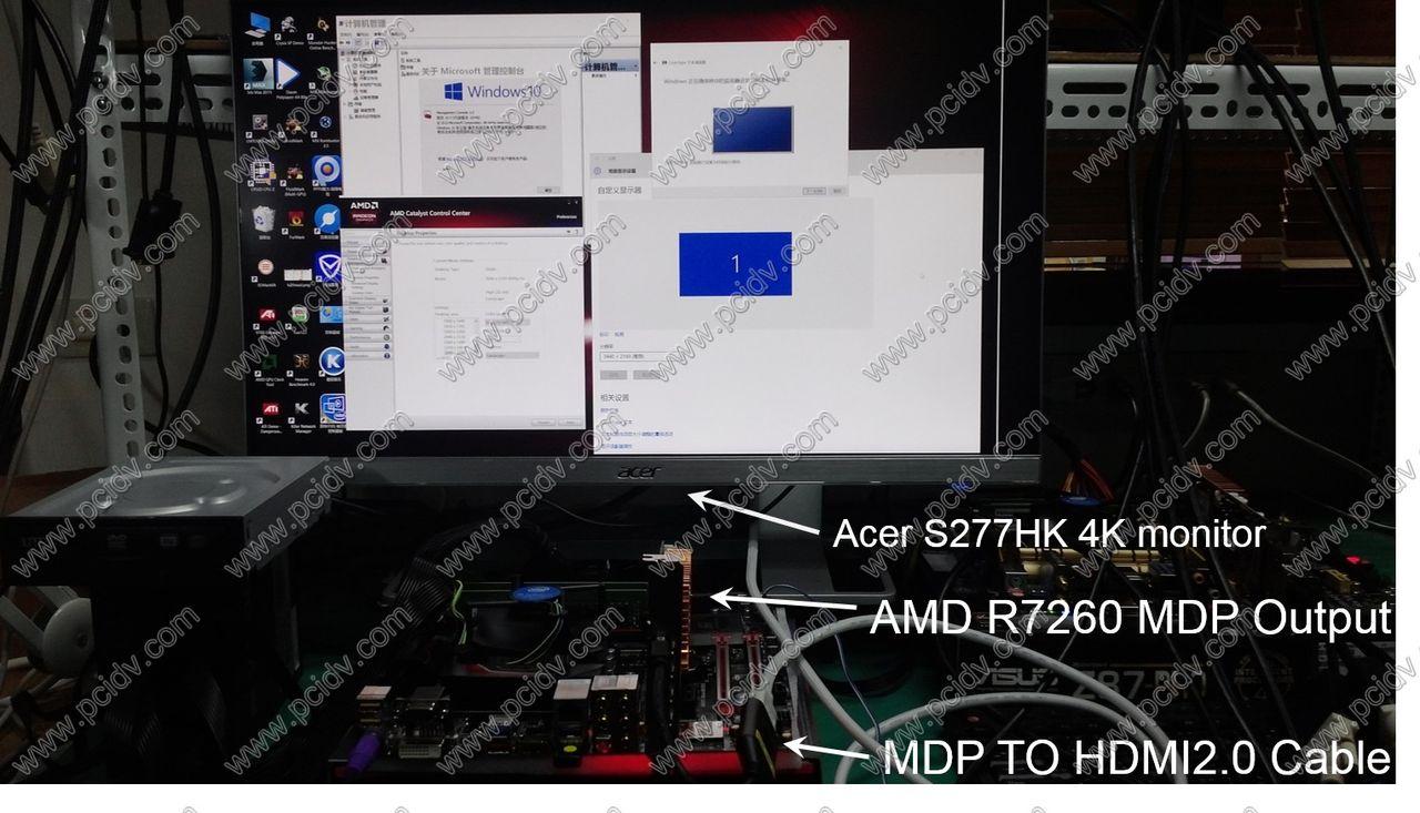 pcidv.com/mini dp转hdmi2.0 4k @60hz S277HK 测试图