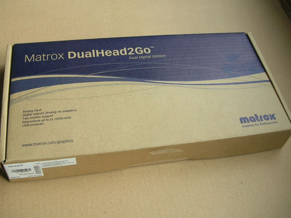 pcidv.com/matrox dualhead2go digital edition new box