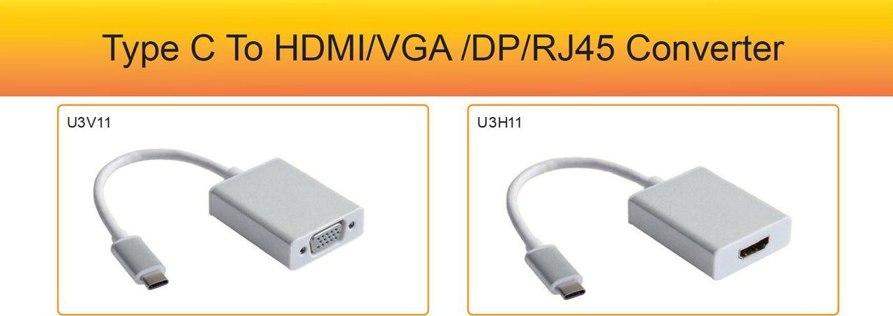 pcidv.com/USB3.1 Type-C转VGA Type-C转HDMI
