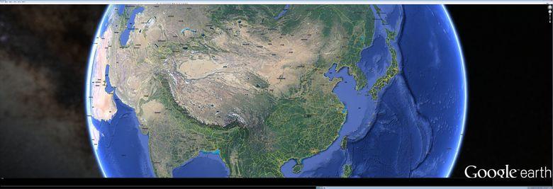 谷歌全国电子地图google地球8K*3K地图全景图片实时浏览超高清8960*3072分辨率,缩放保持清晰度