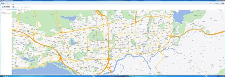 8K*3K腾讯地图全景图片实时浏览8960*3072分辨率,缩放保持清晰度