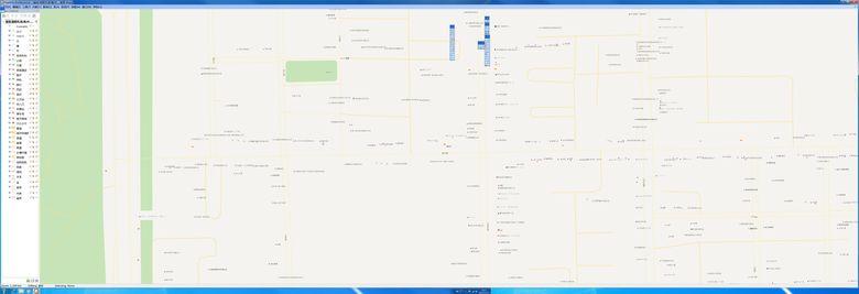 深圳市电子地图福田华强北8K*3K地图Mapinfo格式全景图片实时浏览超高清8960*3072分辨率,缩放保持清晰度